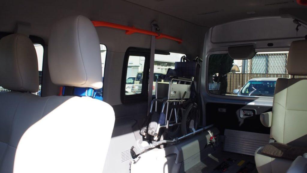 介護タクシー・ハピネスケア車両内部